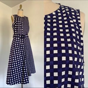 Warehouse | Blue and White Gingham Dress NWT 8